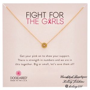 NWT - DOGEARED Fight For Girls Necklace